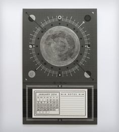 2014 Letterpress Calendar – Moon | Gifts Cards & Stationery | Hammerpress | Scoutmob Shoppe | Product Detail