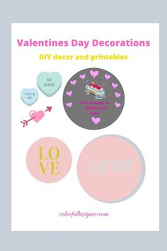 Easy to make Valentines Day Decorations - DIY last minute – Colorful Designer Interior Decorating Tips, Interior Design, How To Make Rose, Flower Curtain, Pink Candles, Kitchen On A Budget, Valentines Day Decorations, Easy Home Decor, Painting Cabinets