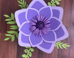 PDF Paper Flower Template with Base, DIGITAL Version - Original Design by Annie Rose