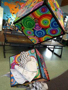 Arte de la caja colgante Swirly ...