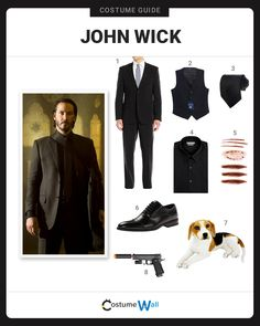 The best cosplay guide for dressing up like John Wick, the retired assassin who goes on a killing spree for revenge in the movie, John Wick.