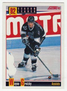 Wayne Gretzky # 412 - 1992-93 Score Hockey Hockey Cards, Baseball Cards, Ice Hockey Players, Wayne Gretzky, National Hockey League, Scores, Nhl, Mint, Peppermint