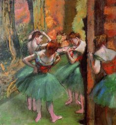 Dancers, Pink and Green, by Edgar Degas