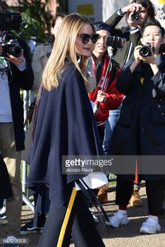 Olivia Palermo is seen arriving at Chloe fashion show during the Paris Fashion Week Womenswear Fall/Winter 2017/2018 on March 2 2017 in Paris France