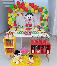 Festa da Magali: 50 ideias lindas, passo a passo e muita melancia Baby Tumblr, Party Decoration, Fiesta Party, Malu, Baby Party, Summer Recipes, Alice, Party Supplies, Birthday Parties