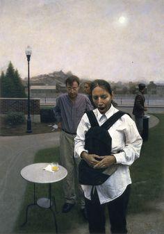 1995-1999 - Paul Fenniak - Painting Archive Contemporary Artists, Modern Art, Kirsty Mitchell, Faith Ringgold, Fantasy Films, Film Base, Realism Art, Figure Painting, Figurative Art