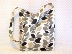 Urban Minimalist Hobo Bag Leaves Hobo Bag by BizzieLizzieHandmade, $35.00