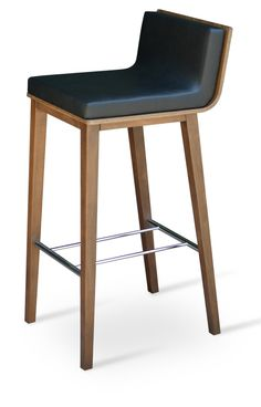 Corona Wood Counter and Bar Stools available with Dallas Seat by Soho Concept