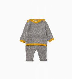 Knit two-piece suit-Shop by Look-Mini | Newborn-12 months-KIDS | ZARA United States