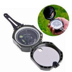 Buy High Precision Magnetic Pocket Transit Geological Compass Scale Degrees DAN at Wish - Shopping Made Fun Hiking Gear, Camping Gear, Camping Cabins, Camping Places, Best Compass, Pocket Compass, Camping Activities For Kids, Gear Drive, Yellowstone Camping