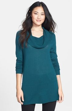 Caslon® Cowl Neck Tunic Sweater (Regular & Petite) available at #Nordstrom