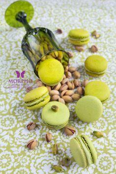 pistachio macarons - Morpho Fabulous Cafe in Chisinau photo by www.edithfrincu.ro