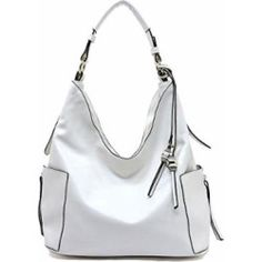 fc99246d0977 Women s Handbags  Handbag Republic Side Zip Hobo Handbag (White)  handbags   womensfashion