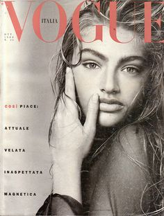 Micheala Bercu, Vogue Italia October 1988.