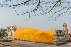 Bouddha allonge Wat Lokayasutharam - Ayutthaya
