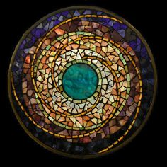 Water Planet ~ mandala by David Chidgey, Art Glass Mosaics
