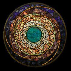 Water Planet ~ mandala by David Chidgey, Art Glass Mosaics