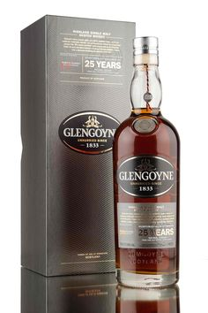 Part of core range of whisky available from Glengoyne distillery, this stunning unpeated Highland single malt Scotch whisky has been aged for 25 years in sherry casks. Beautifully presented, bottled at 48% vol...