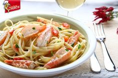 Linguine with shrimp for lunch? Why not... let's start cooking!