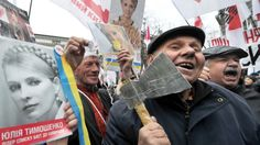 Demonstrators take to the streets of Kiev in March to call for the release of former Prime Minister Yulia Tymoshenko.  Ukraine:  Caught between East and West