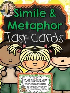 What's better than a colorful, fun, no prep activity to help your students master Similes and Metaphors? This task card activity is perfect for engaging students!This Simile and Metaphor Task Card Bundle is ideal for centers, classroom scoots, or small group instruction.