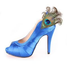 Special Peacock blue #shoes for party or #wedding by Creativesugar, $105.00