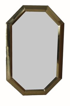 8 Sided Vintage Ethan Allen 36 Quot Bright Brass Beveled Glass