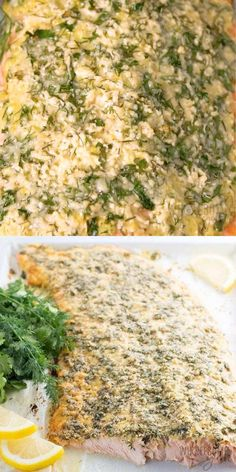 Baked Lemon Herb Parmesan Crusted Salmon Recipe - This baked lemon herb parmesan crusted salmon recipe is super easy and delicious! It's one of the best ways to make salmon. Ready in less than 30 minutes start to finish! #keto #ketodiet #glutenfree #healthy #lowcarb #Wholesomeyum #dinner #lunch Salmon Recipes, Fish Recipes, Seafood Recipes, Dinner Recipes, Dinner Ideas, Gluten Free Recipes, Low Carb Recipes, Cooking Recipes, Healthy Recipes