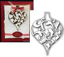 ELLIANA ORNAMENT die by MEMORY BOX Christmas Holiday xmas elegant diecut 98960