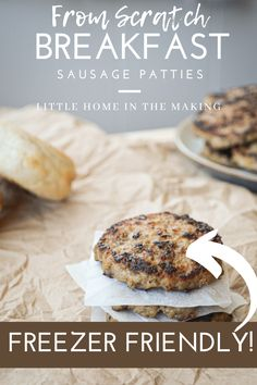 Make these delicious breakfast sausage patties and have them at the ready at a moments notice! Perfect for meal prep, with a low carb and keto option. #mealprep #freezermeal #freezerprep #makeaheadandfreezer #makeaheadmeal #freezerfriendly