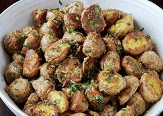 Parmesan-Roasted Potatoes by Bon Appetit Magazine. Cooking the potatoes on a wire rack lets hot air circulate around them, so they get extra crisp. Potato Dishes, Potato Recipes, Food Dishes, Side Dishes, Veg Dishes, Vegetable Sides, Vegetable Recipes, Healthy Eating Tips, Healthy Snacks