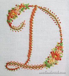 Floral Sampler Monogram Alphabet