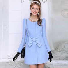 Coat Dress, Dress Skirt, Asian Fashion, High Fashion, Coats For Women, Ladies Coats, Church Outfits, Business Women, Wool Blend