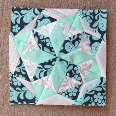 Icicle Star Paper Pieced Block | Sew Mama Sew | Outstanding sewing, quilting, and needlework tutorials since 2005.