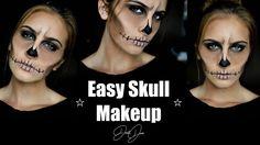 Easy Skull Halloween Makeup Tutorial | JustJosie