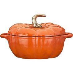 Pumpkin Covered Casserole   Staub