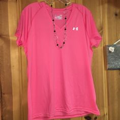 Under Armour Shirt  Pink Under Armour Short sleeve shirt  Under Armour Tops