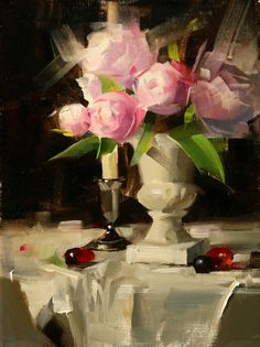 Loose brushstrokes - fast & easy-looking... I want to make more commission work like this. Painting by Qiang-Huang.