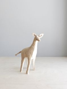 geometric giraffe / soft sculpture animal. $74.00, via Etsy.