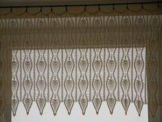 Crochet Curtain Lace Window Valance. $150.00, via Etsy.
