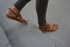 Juno Sandals ~ strappy sandals in tan | Valia Gabriel