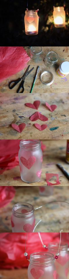 Frosted Lantern DIY
