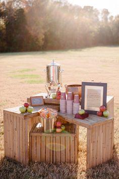 apple cider station | Sera Petra Photography | Glamour & Grace
