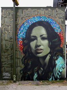 Mural by El Mac in Los Angeles