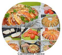 INGREDIENTI per circa 8 persone: 14 fette di pane bianco 4 pomodori freschi un ciuffo di prezzemolo mozzarella q.b prosciutto cotto q.b u...