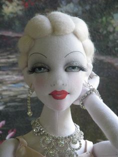 "OOAK Camilla Vanilla 22"" Lady Art Doll All Cloth BJD Size by Gayle Wray   eBay                                                                                                                                                     More"