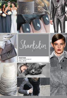 """Hoje é a vez da terceira cor da cartela Pantone Fall 2016 – a Sharksin (""""pele de…"""