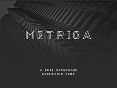 This is the FREE Metrica Font by Oliver James which is inspired by geometric lines. It's free for personal use, and is simultaneously striking and distinctive.