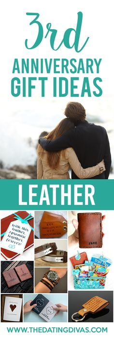 3rd anniversary gift ideas for your leather anniversary