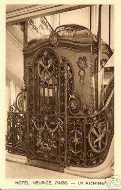 fin de siecle wrought iron lift